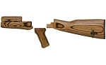 Tapco TimberSmith AK-47 Wooden Stock Set Brown Laminate