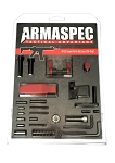 Armaspec Lower Parts Kit LPK Without Trigger/Grip 5.56 Red