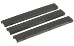 Ergo Grip 18 Slot Textured Slim Line Rail Covers 3 Pack Black