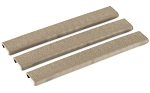 Ergo Grip 18 Slot Textured Slim Line Rail Covers 3 Pack Dark Earth