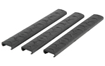 Hexmag Sentry Picatinny Rail Covers 3 Pack Black