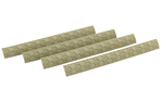 Hexmag Sentry M-LOK Rail Covers 4 Pack FDE