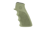 Hogue OverMolded Rubber Grip AR-15 with Grooves OD Green