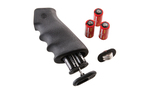 Hogue OverMolded Rubber Grip AR-15 with Cargo Storage Kit Black