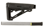 Hogue AR-15 OverMolded Collapsible Buttstock Assembly Mil-Spec Black