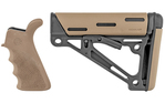 Hogue AR-15 OverMolded Beavertail Grip & Collapsible Buttstock Mil-Spec FDE