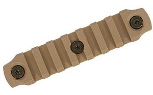 "Bravo Company Gunfighter Keymod Nylon Rail 4"" Flat Dark Earth"