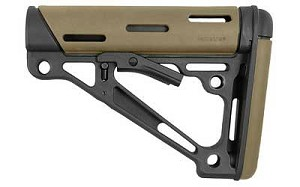 Hogue AR-15 OverMolded Collapsible Buttstock Mil-Spec Flat Dark Earth